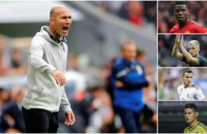 Zinadine zidane gets the team ready